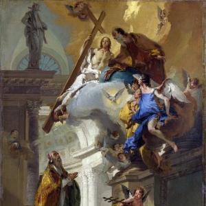 Джованни Баттиста Тьеполо - Видение Троицы