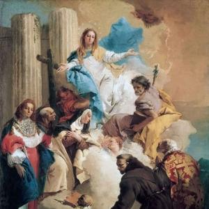 Джованни Баттиста Тьеполо - Богородица и шестеро святых