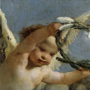 Джованни Баттиста Тьеполо - Ангел с венком из лилий
