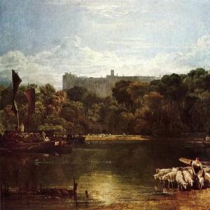 Джозеф Мэллорд Уильям Тёрнер - Вид на замок Виндзор с Темзы