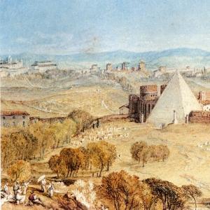 Джозеф Мэллорд Уильям Тёрнер - Вид на Рим с Монте Тестаккио