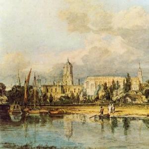 Джозеф Мэллорд Уильям Тёрнер - Вид с южной стороны на Церковь Христа, с лугов