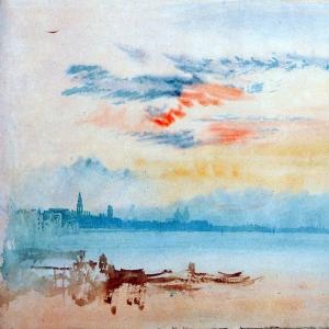 Джозеф Мэллорд Уильям Тёрнер - Венеция, вид на восток с канала Гуидекка, восход солнца