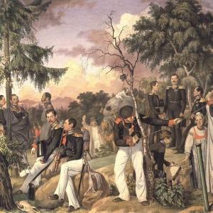 Бивуак лейб-гвардии гренадёрского полка. 1843