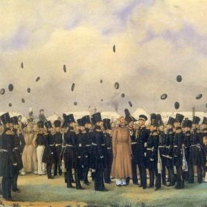 Встреча в лагере лейб-гвардии Финляндского полка вел. Кн. Михаила Павловича 8 июля 1837