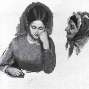 Девушка. Голова сводницы. Конец 1840-х