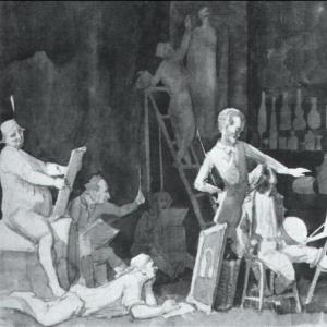 Бельведерский торс. Пьянство академистов. 1841