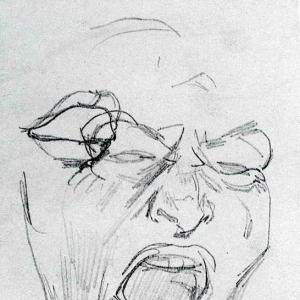 Голова слуги. Этюд к картине Игроки. 1851
