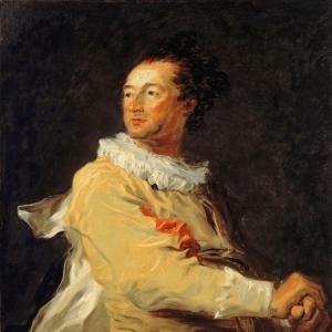 Анн-Франсуа д'Аркур, герцог Беврон, в образе персонажа итальянской комедии