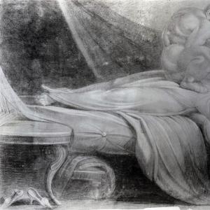 Иоганн Генрих Фюсли - Ночной кошмар (эскиз)