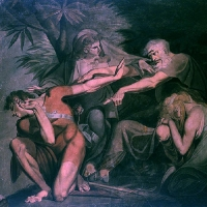 Иоганн Генрих Фюсли - Эдип проклинает своего сына Полиника - «Склонись, отвергнутый и отречённый мной ..»
