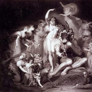 Иоганн Генрих Фюсли - Титания, Боттом и феи, Акт 4 Сцена 1, Сон в летнюю ночь