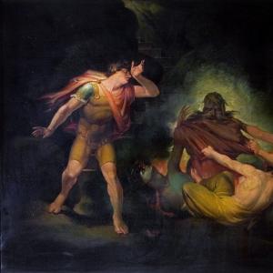 Иоганн Генрих Фюсли - Явление Огненного Короля перед графом Альбертом