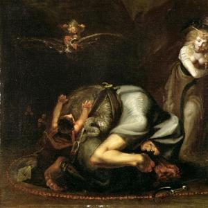 Иоганн Генрих Фюсли - Сцена с ведьмой из «Маски Королевы» Бенджамина Джонсона