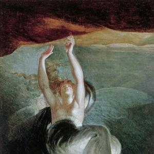 Иоганн Генрих Фюсли - Титания находит волшебное кольцо на берегу, из «Оберона» Кристофа Мартина Виланда