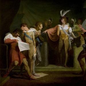Иоганн Генрих Фюсли - Генрих V, акт II, сцена 2 Генрих V разоблачает заговорщиков