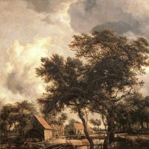 Хоббема Мейндерт - Водяная мельница, 1660