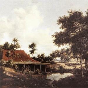 Хоббема Мейндерт - Водяная мельница, 1663