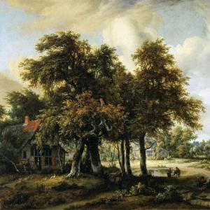 Хоббема Мейндерт - Лесной пейзаж
