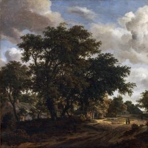 Хоббема Мейндерт - Пейзаж с лесной дорогой