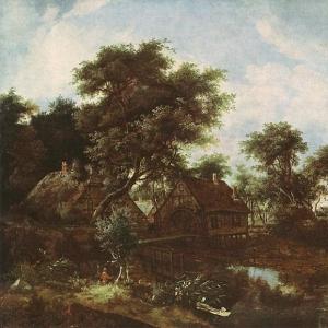 Хоббема Мейндерт - Водяная мельница и дуб, Дрезден