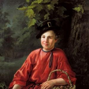 Хруцкий Иван - Портрет мальчика, 1834