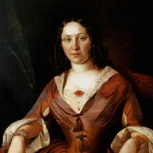 Хруцкий Иван - Портрет неизвестной дамы, 1843,