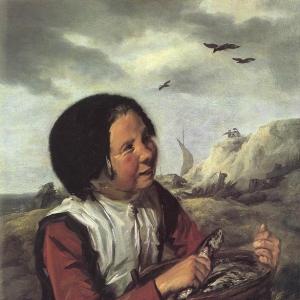 Франс Хальс - Девочка-рыбачка