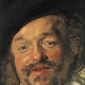 Франс Хальс - Веселый собутыльник (1628-30), фрагмент