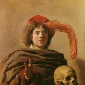 Франс Хальс - Молодой человек с черепом в руке, ок.1626