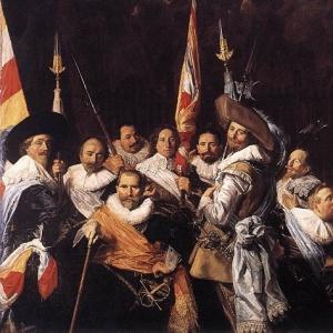 Франс Хальс - Банкет членов харлемской стрелковой гильдии Св. Адриана, 1633