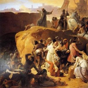 Франческо Хайес - Крестоносцы, мучимые жаждой вблизи Иерусалима