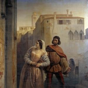 Франческо Хайес - Бегство Бьянки Капелло из Венеции