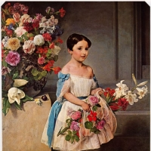 Франческо Хайес - Портрет Антоньетты Негрони Прати Морозини ребенком