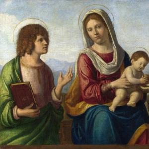 Джованни Батиста Чима да Конельяно - Мадонна с Младенцем и святыми