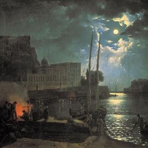 Лунная ночь в Неаполе. 1828