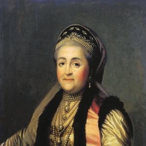 Портрет Екатерины II в шугае и кокошнике. 1772