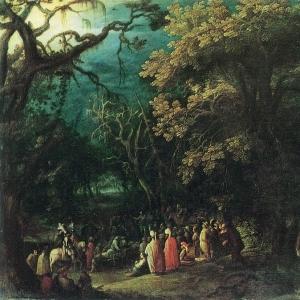 Эльсхеймер Адам - Проповедь Иоанна Крестителя
