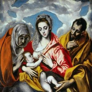 Эль Греко - Святое семейство