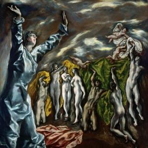 Эль Греко - Открытие пятой печати (Видение святого Иоанна)