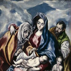 Эль Греко - Святое семейство со святой Анной и маленьким Иоанном Крестителем