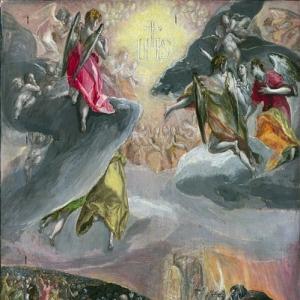Эль Греко - Поклонение имени Иисуса (Сон Филиппа II)