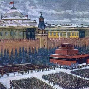 Парад на Красной площади 7 ноября 1941 года. 1942