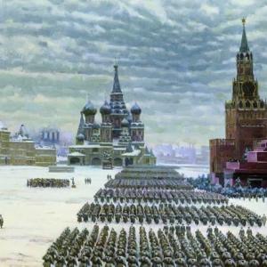 Парад на Красной площади 7 ноября 1941 года