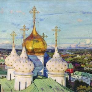 Купола и ласточки. Успенский собор Троице-Сергиевой лавры