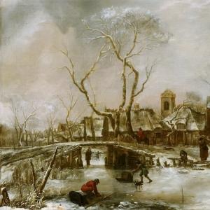 Ян ван де Капелле - Зимний пейзаж